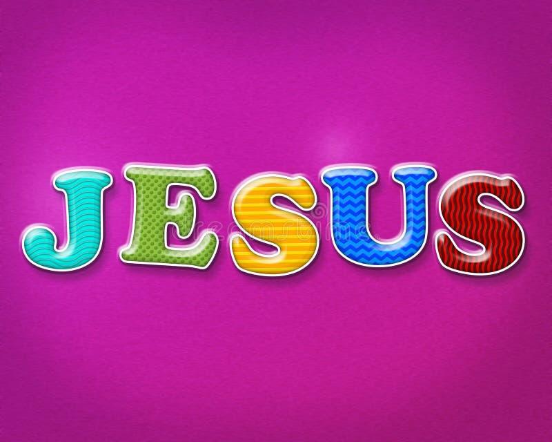 Färgrika Jesus Theme arkivfoton