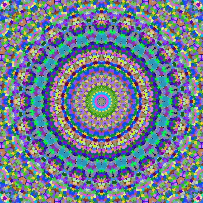 färgrika kaleidoscopefyrkanter stock illustrationer