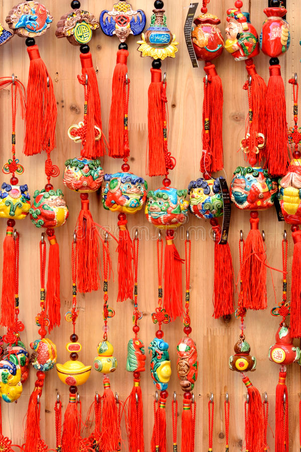 Kinesisk traditionell skyddande talisman royaltyfria foton