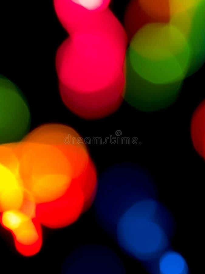 färgrika lampor för bakgrund royaltyfria bilder