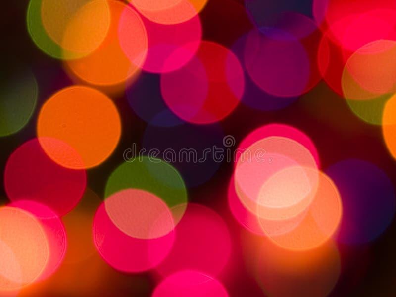 färgrika lampor för bakgrund arkivfoton