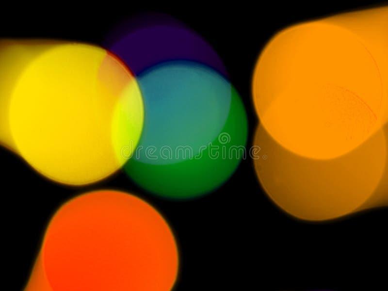 färgrika lampor för bakgrund royaltyfri foto