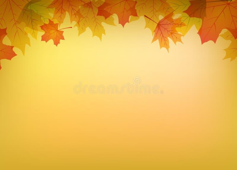 färgrika leaves för höst stock illustrationer