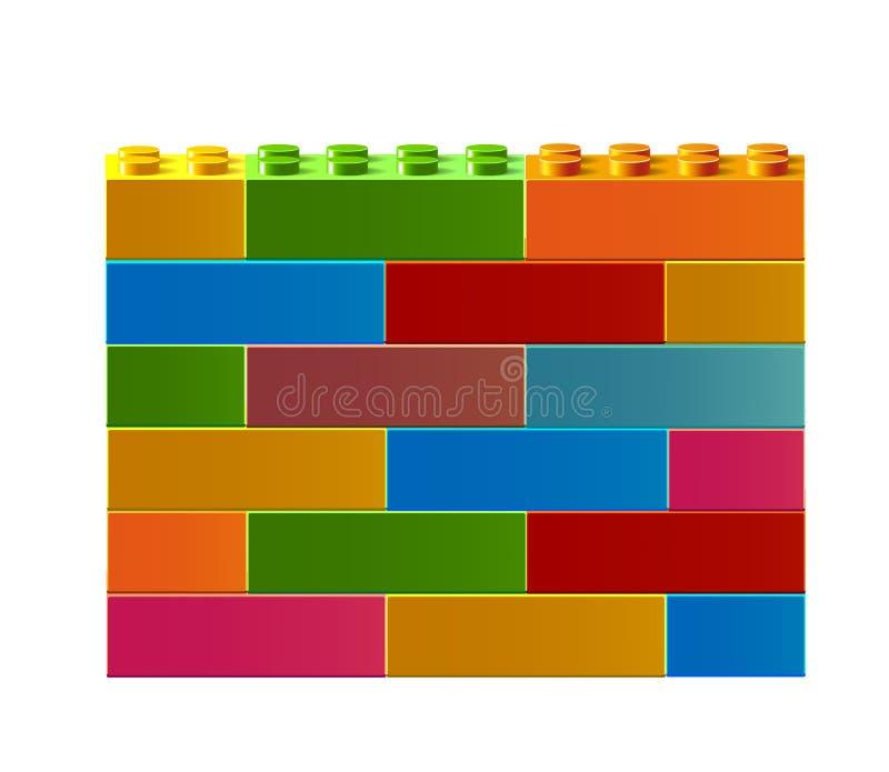 Färgrika leksaker för byggnadskvarter vektor illustrationer