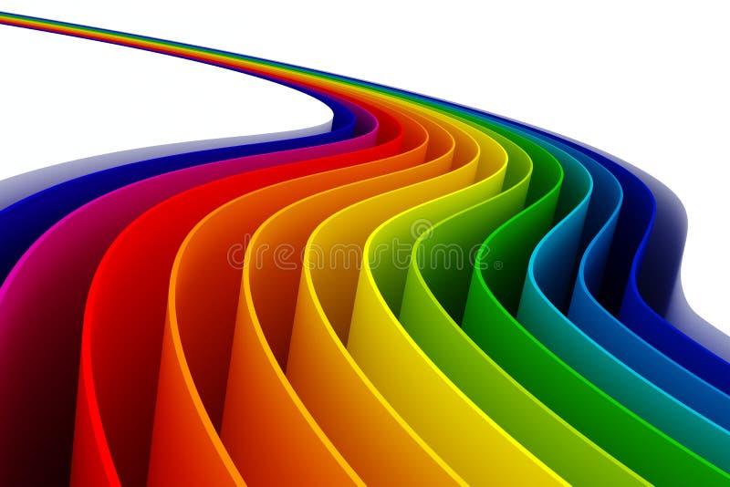 färgrika linjer 3d royaltyfri illustrationer