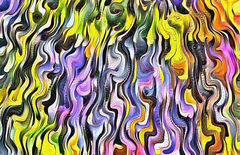 Färgrika linjer för vätska vektor illustrationer