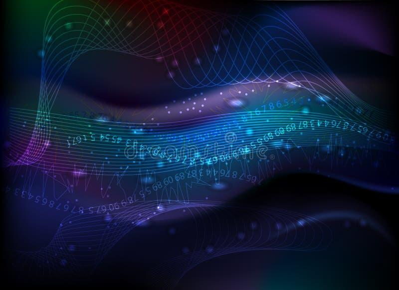 färgrika linjer nummer för abstrakt bakgrund vektor illustrationer
