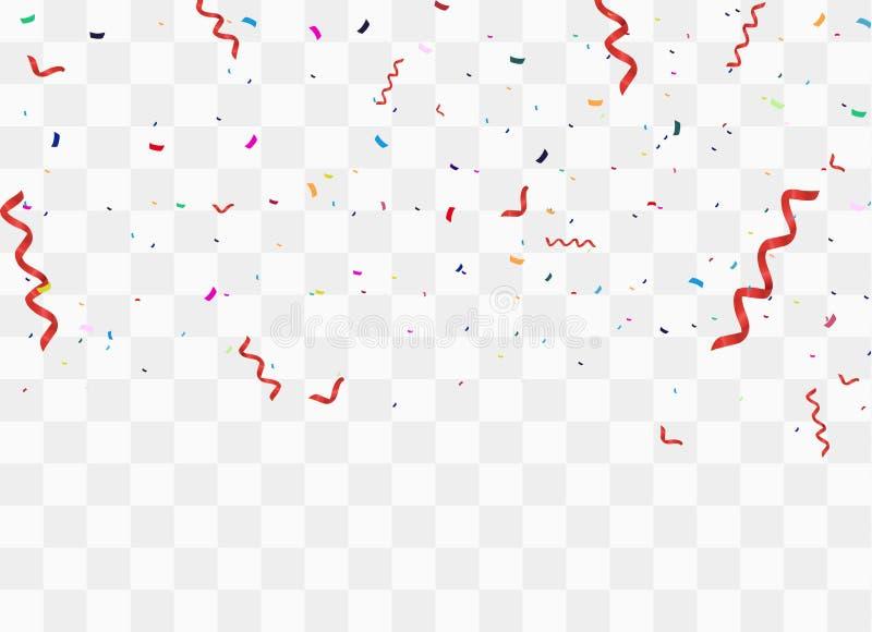 Färgrika ljusa konfettier vektor illustrationer