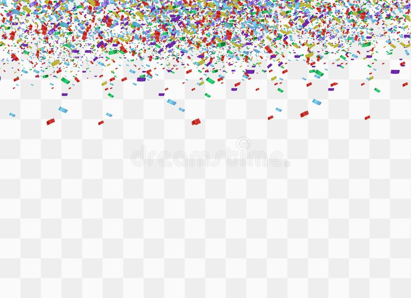 Färgrika ljusa konfettier royaltyfri illustrationer