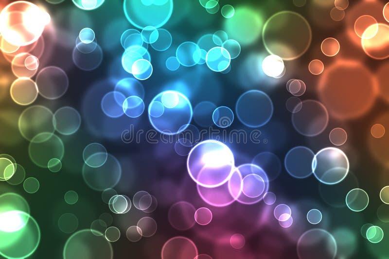 färgrika ljusa orbs vektor illustrationer