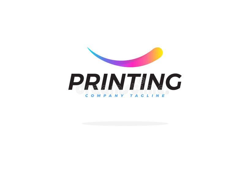 Färgrika Logo For Printing Company Vector royaltyfri illustrationer