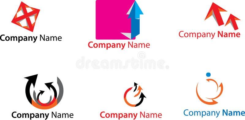 färgrika logoer royaltyfri illustrationer
