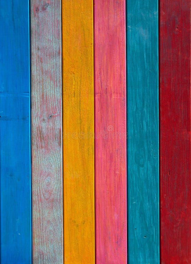 Färgrika målad wood textur för mexikan band royaltyfri fotografi