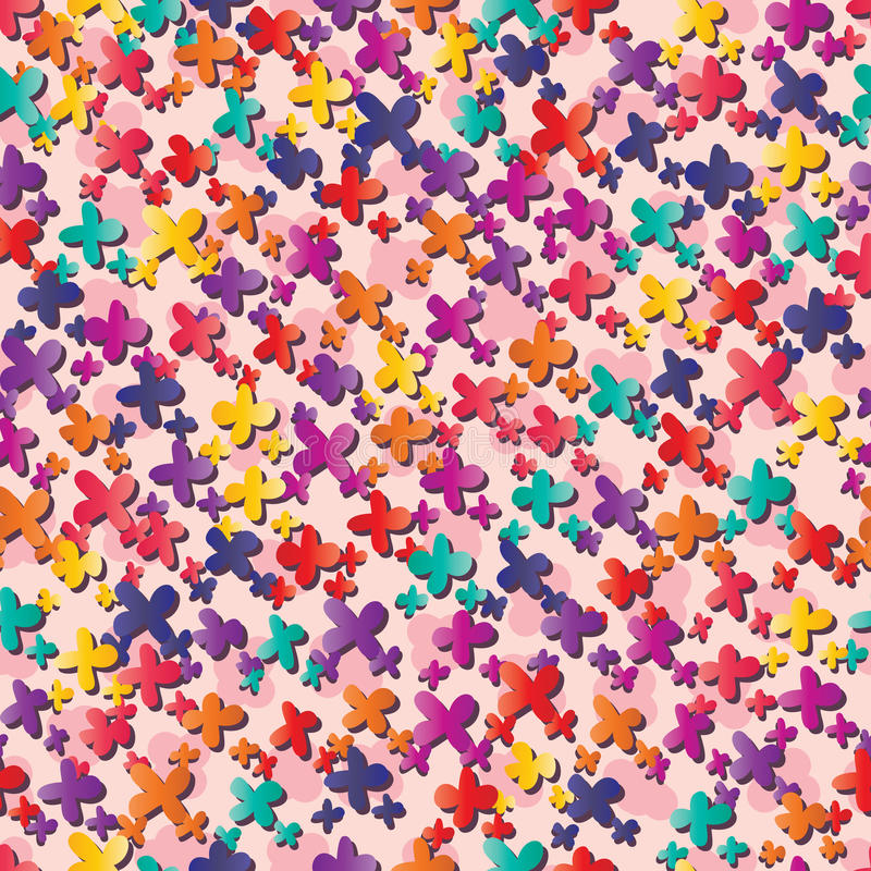 Färgrika många för liten blomma sömlös modell stock illustrationer