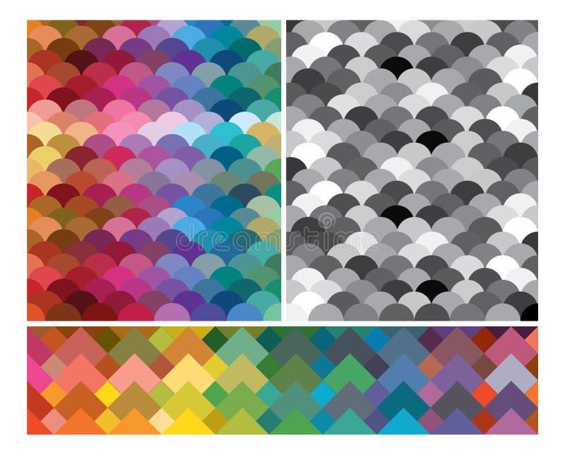 färgrika moderna settexturer för absrtact stock illustrationer
