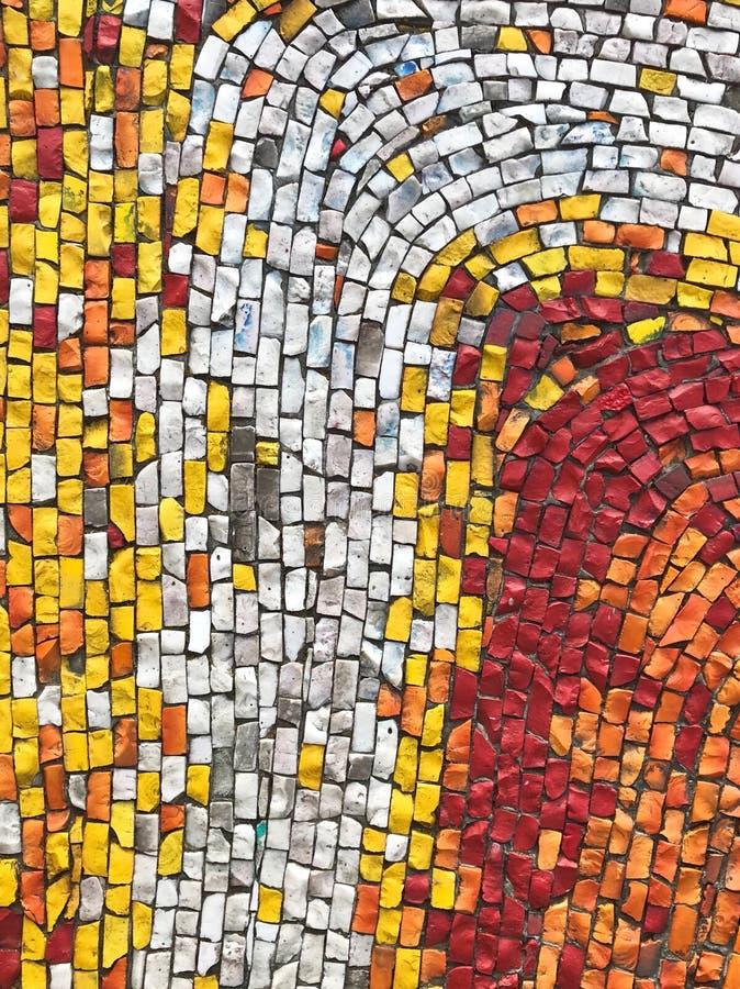 Färgrika mosaiktexturer arkivbilder