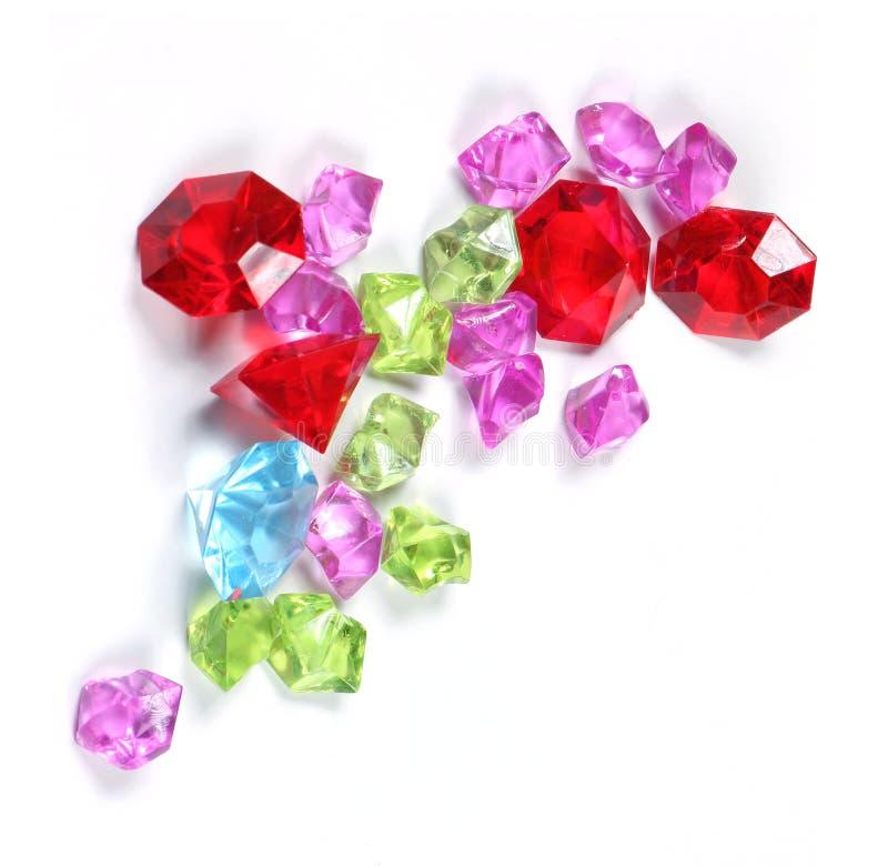 Färgrika mousserande diamanter fotografering för bildbyråer