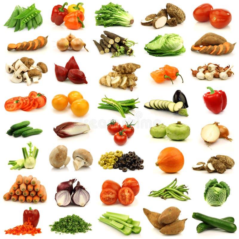 färgrika nya grönsaker för samling royaltyfri fotografi