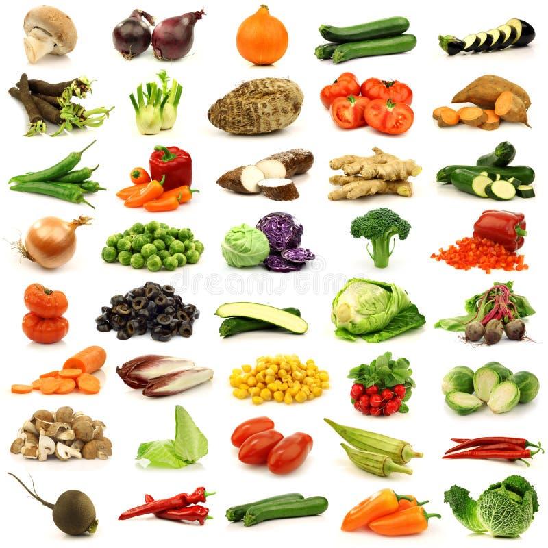färgrika nya grönsaker för samling fotografering för bildbyråer