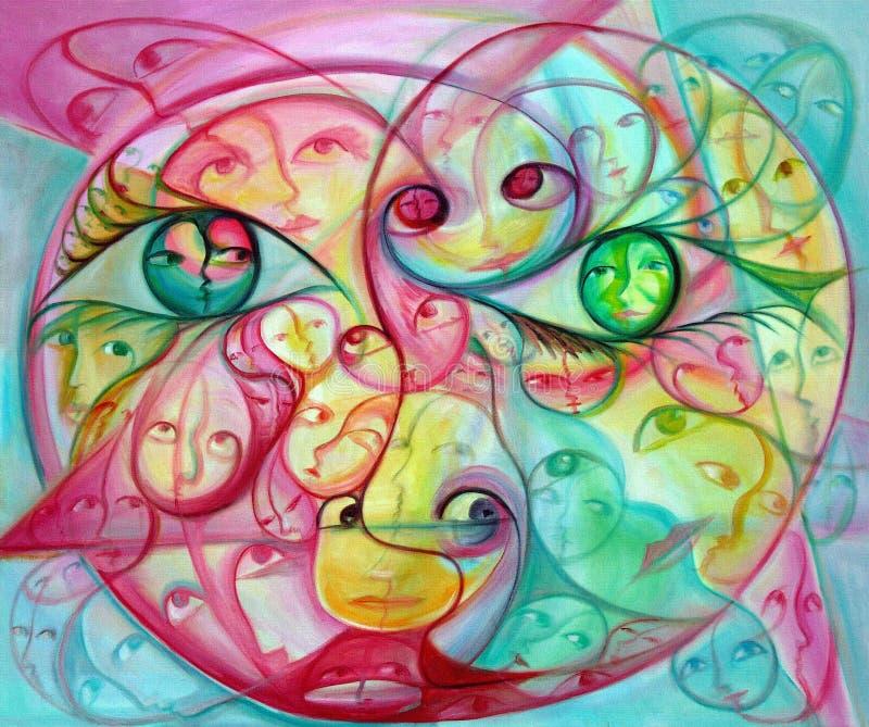 färgrika overkliga ögonframsidor vektor illustrationer
