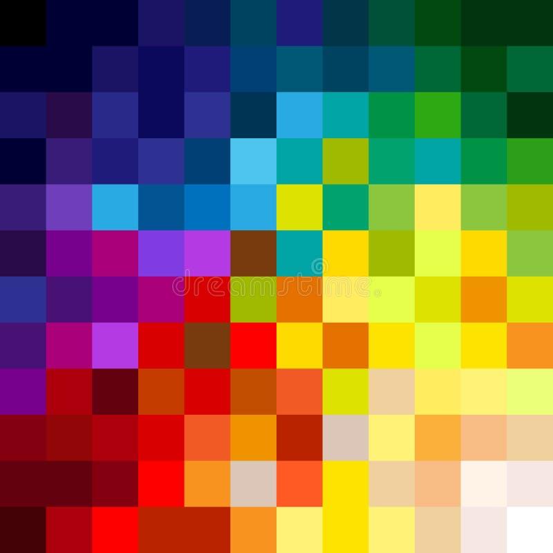 Färgrika PIXEL vektor illustrationer