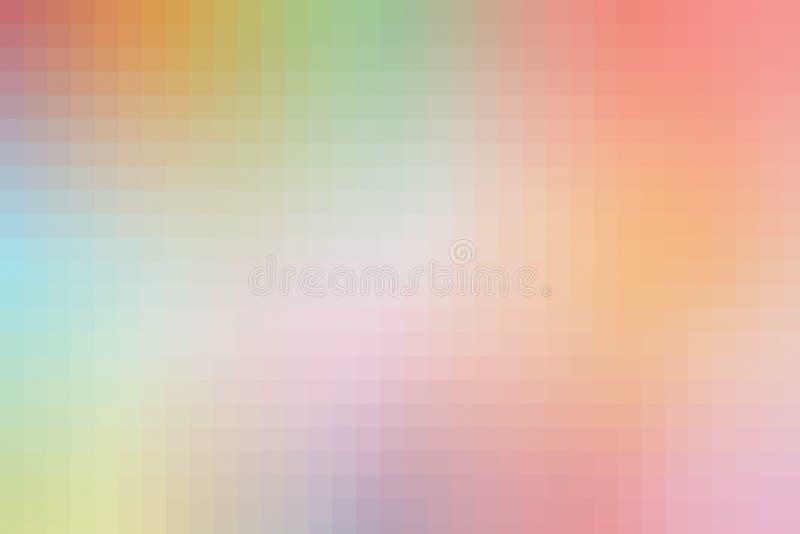 Färgrika PIXEL för abstrakt bakgrund, digital fyrkantig modell royaltyfri illustrationer
