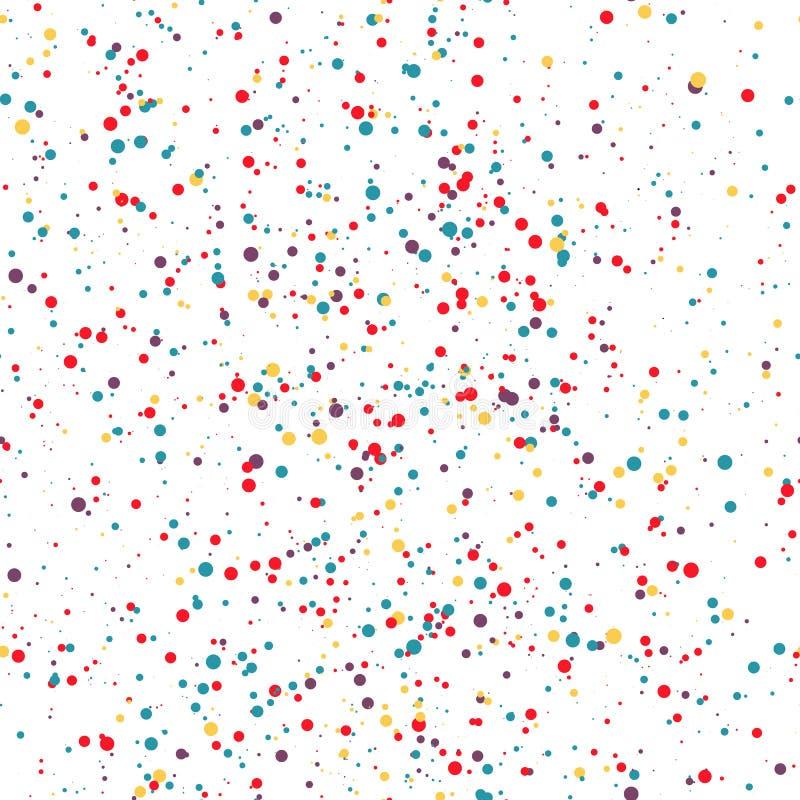 Färgrika prickar för sömlös modell konfettiar också vektor för coreldrawillustration stock illustrationer