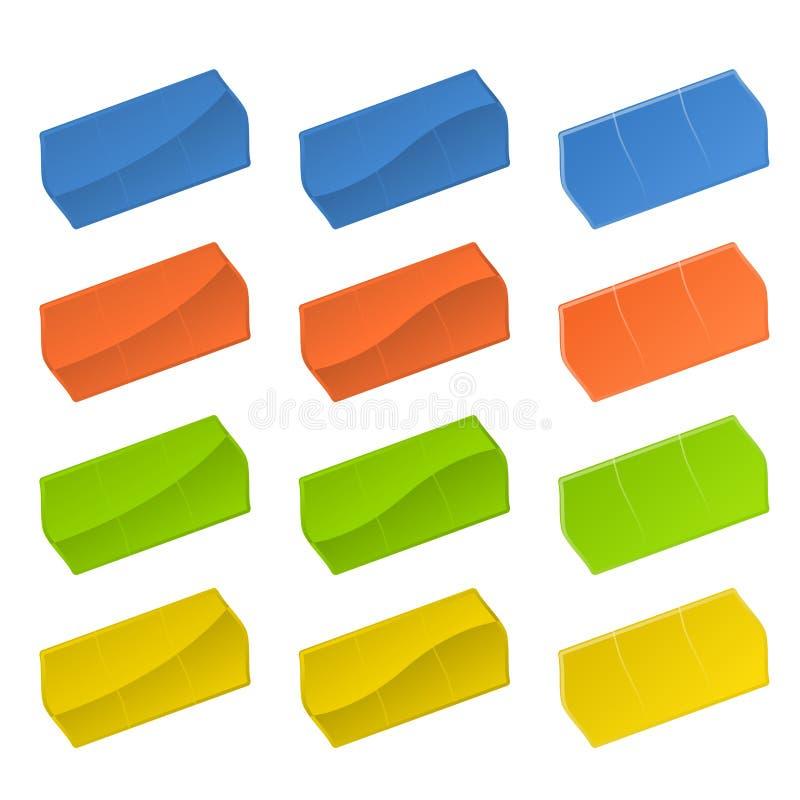 färgrika prislappar stock illustrationer