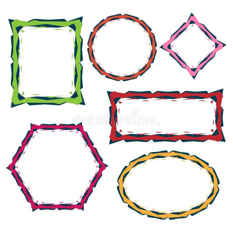 färgrika ramar för kant vektor illustrationer