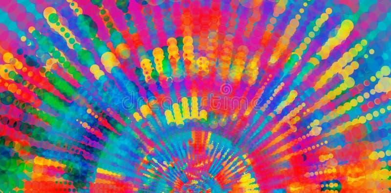 Färgrika randiga prickiga linjer, abstrakt konstnärlig begreppsbakgrund, baner stock illustrationer