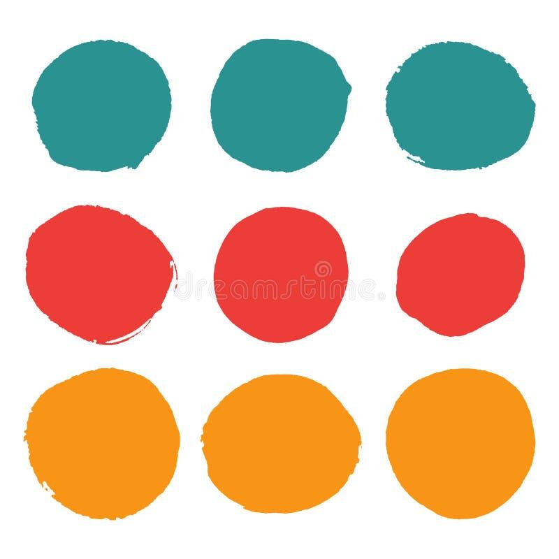 Färgrika rundafläckar Beståndsdelar för cirkelformdesign vektor illustrationer