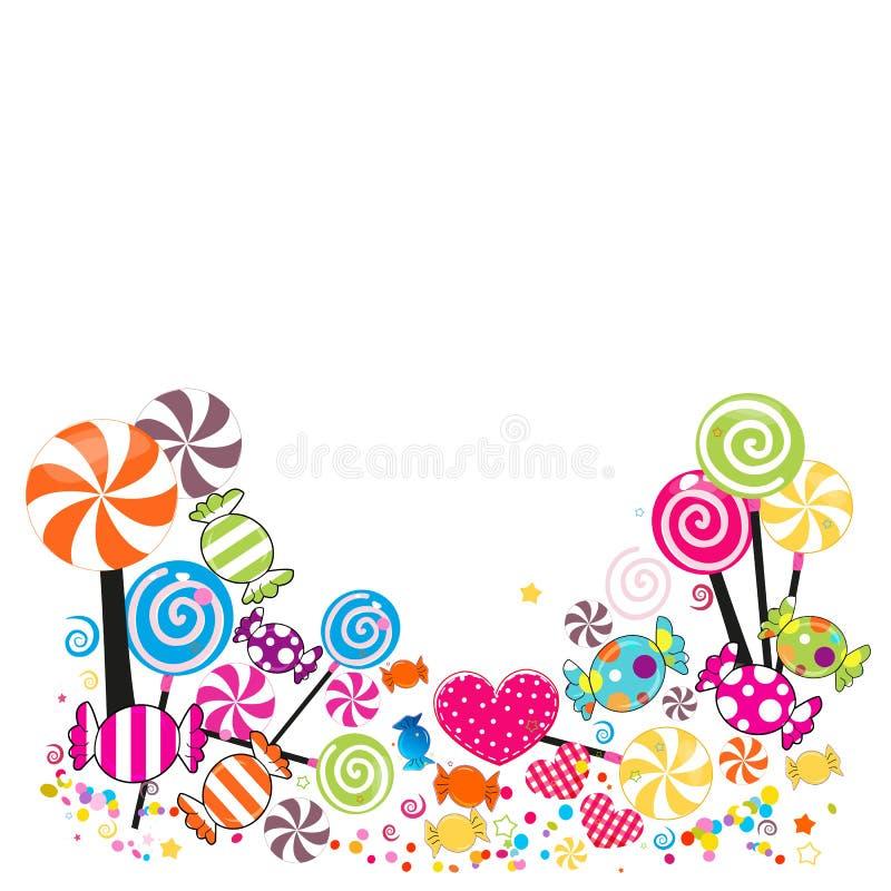 Färgrika söta godisar Traditionella godisar för Seker Bayram feriebakgrund Hälsa cardColorful söta godisar traditionellt vektor illustrationer