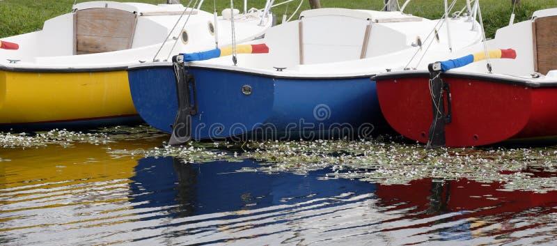 Färgrika segelbåtar Florida royaltyfri foto