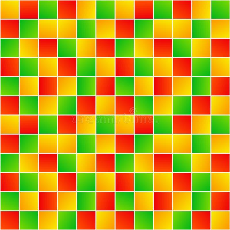 Färgrika slumpmässiga fyrkanter enkel geometrisk sömlös modell, vektor royaltyfri illustrationer