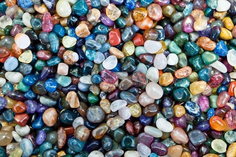 färgrika stenar royaltyfria bilder