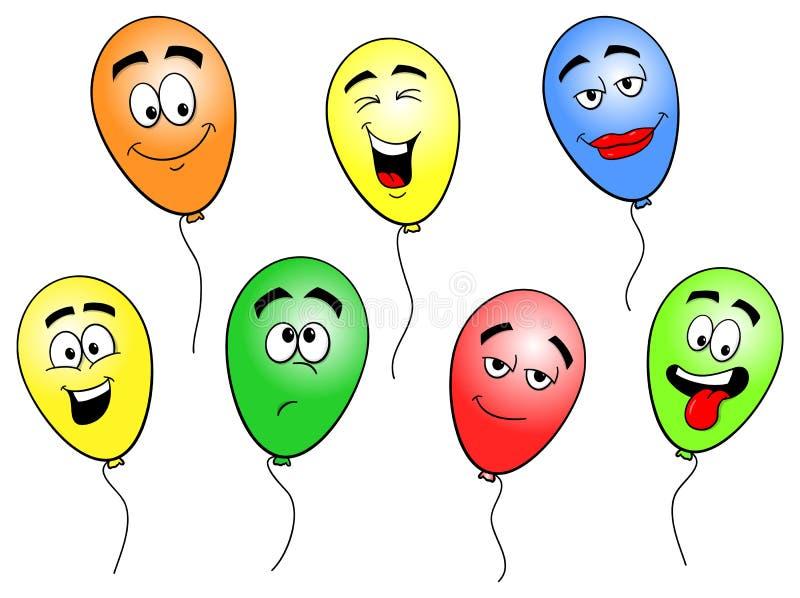 Färgrika tecknad filmballonger vektor illustrationer