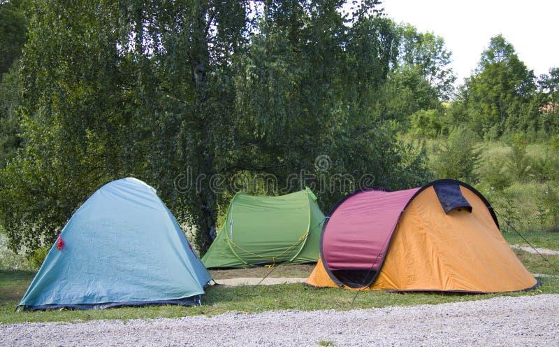 färgrika tents royaltyfria foton