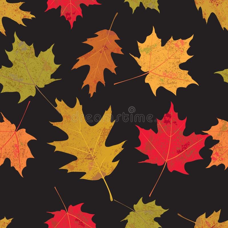 Färgrika Tileable Autumn Leaves Illustration vektor illustrationer