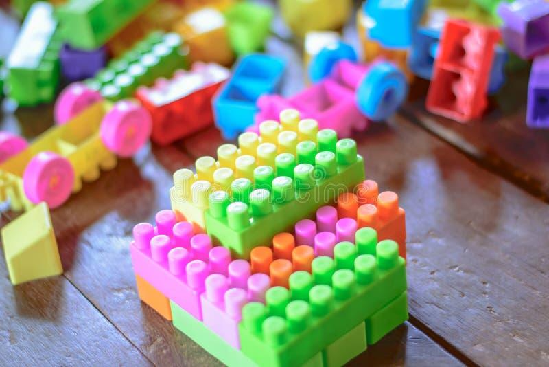 Färgrika Toy Lego arkivbild