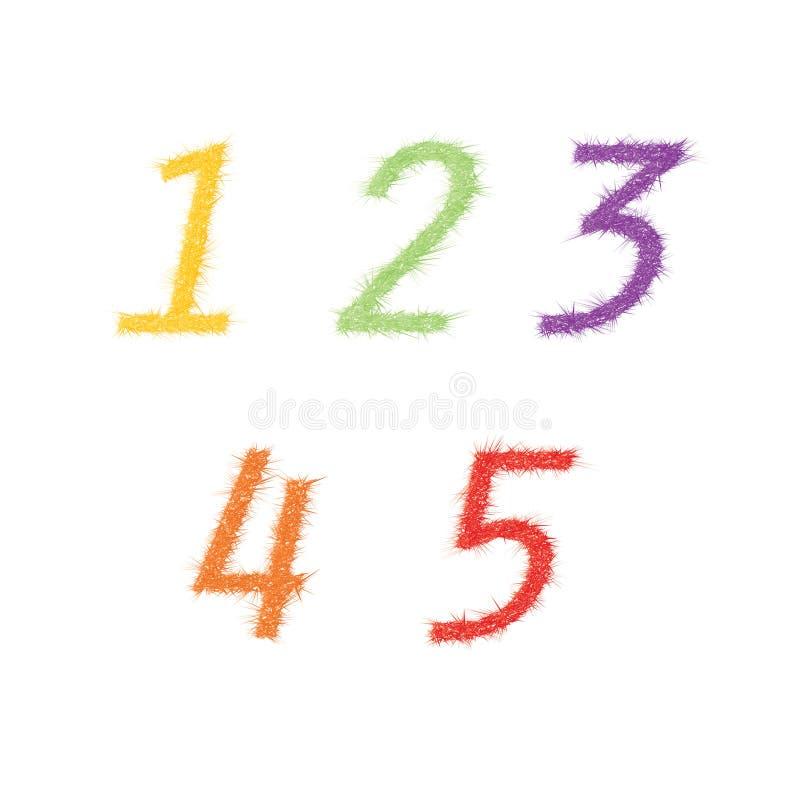 Färgrika vektornummer vektor illustrationer