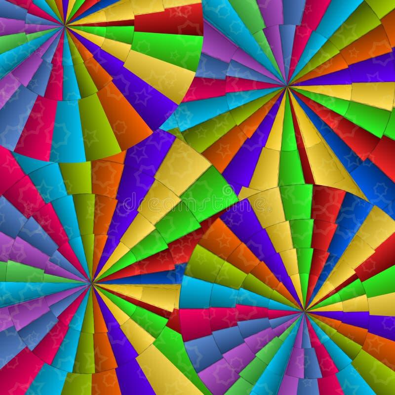 färgrika ventilatorer för abstrakt bakgrund royaltyfri illustrationer