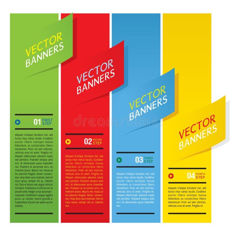 Download Färgrika vertikala baner. vektor illustrationer. Illustration av papper - 37345964
