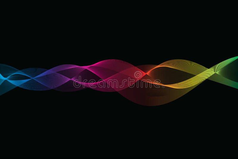 färgrika waves för abstrakt bakgrund arkivfoton
