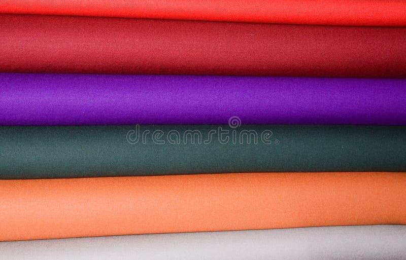 färgrika woollen tygband royaltyfri bild