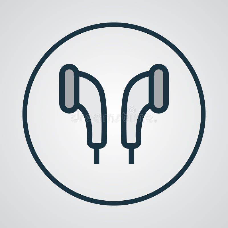 Färgrikt översiktssymbol för Earmuff royaltyfri illustrationer