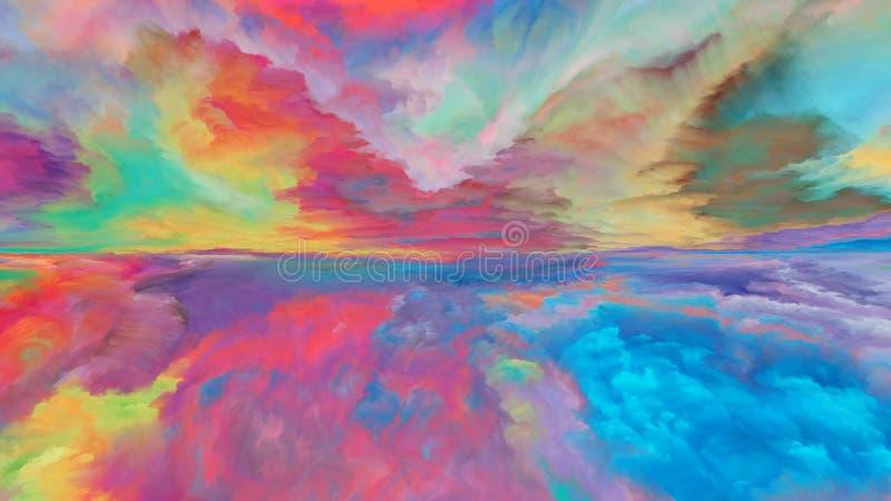 Färgrikt abstrakt landskap vektor illustrationer