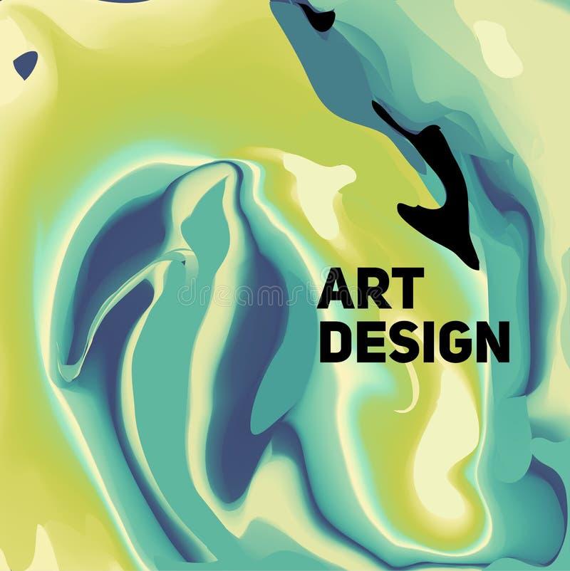 Färgrikt abstrakt vätskefärgpulver Moderna stiltrender Bakgrund royaltyfria bilder
