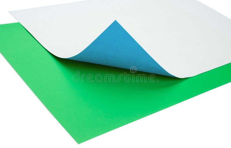 Färgrikt anmärkningspapper med krullningen royaltyfri foto