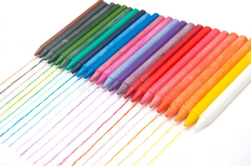 Färgrikt av färgpennan royaltyfri fotografi