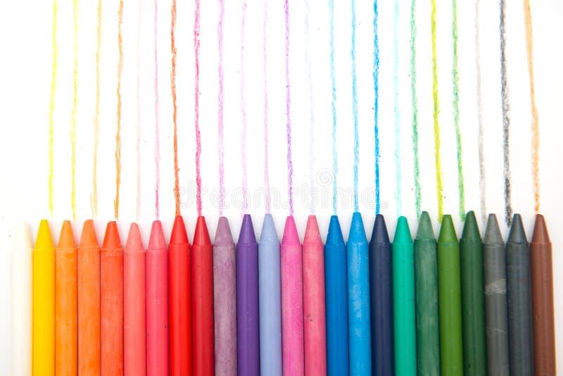 Färgrikt av färgpennan royaltyfri bild